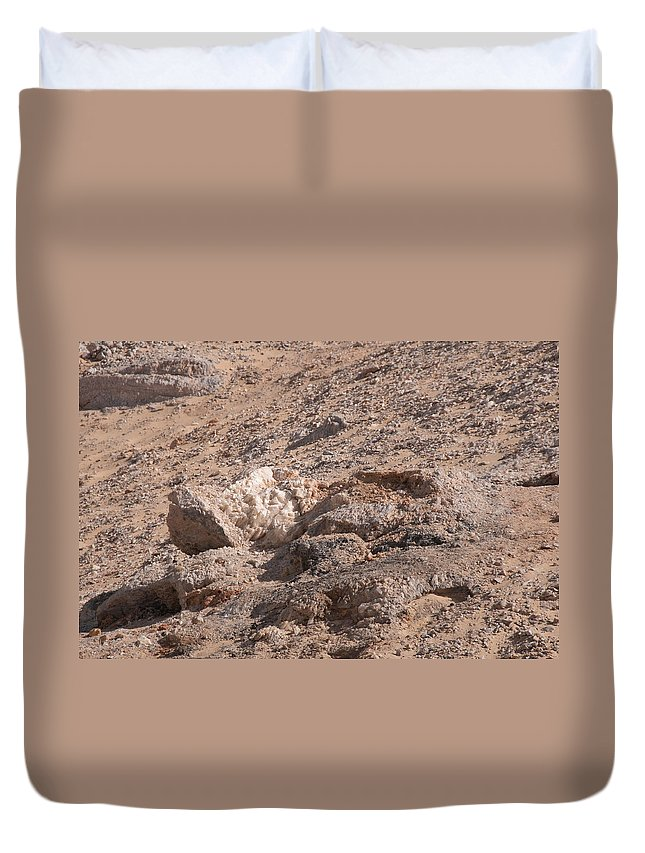 Egypt Desert Duvet Cover featuring the digital art White Desert by Carol Ailles