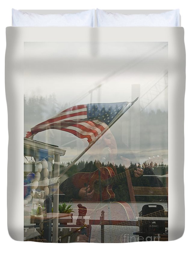 Portrait Duvet Cover featuring the photograph 4th Of July In Seabeck by Davina Parypa