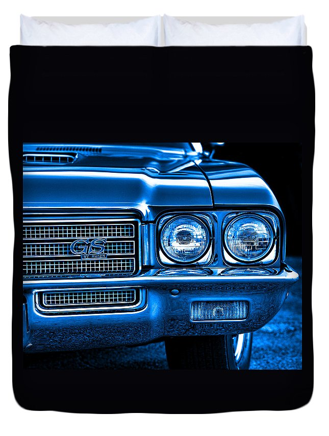 Blue Duvet Cover featuring the photograph 1971 Buick Gs by Gordon Dean II