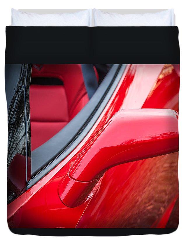 2014 Chevrolet Corvette Duvet Cover featuring the photograph 2014 Chevrolet Corvette C7 by Rich Franco