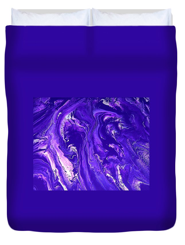 Original Duvet Cover featuring the painting Abstract 22 by J D Owen
