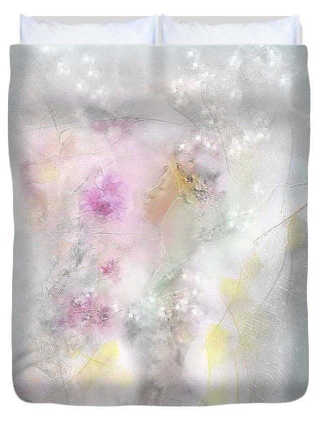 5 Am Duvet Cover featuring the mixed media 5 Am by Freddy Kirsheh