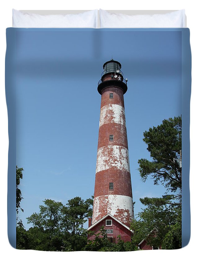Lighthouse Duvet Cover featuring the photograph Assateague Lighthouse by Christiane Schulze Art And Photography