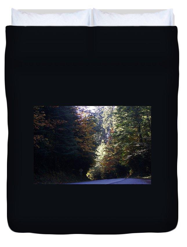 Bloom Duvet Cover featuring the photograph Autumn 4 by J D Owen