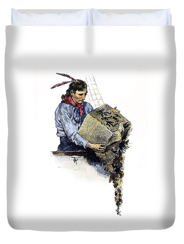 1773 Duvet Cover featuring the photograph Boston Tea Party, 1773 by Granger