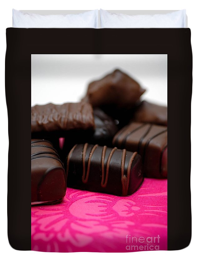 Be My Valentine Duvet Cover featuring the photograph Chocolate Candies by Amy Cicconi
