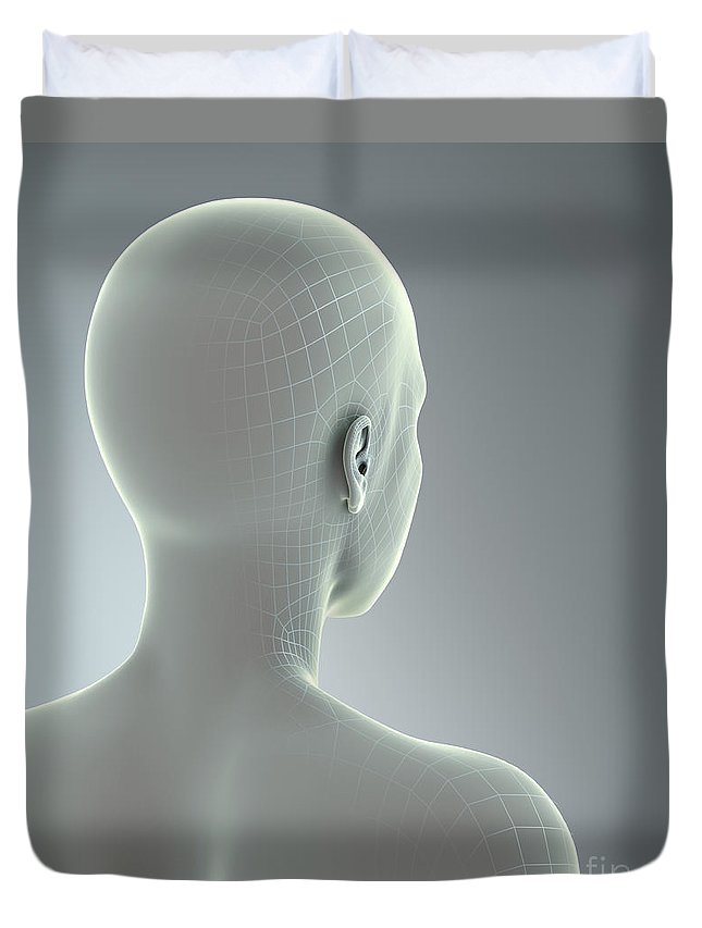 Human Body Duvet Cover featuring the photograph Digital Being by Science Picture Co