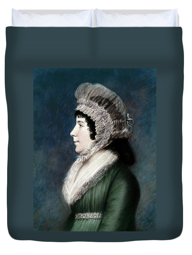 1797 Duvet Cover featuring the painting Dolley Madison (1768-1849) by Granger