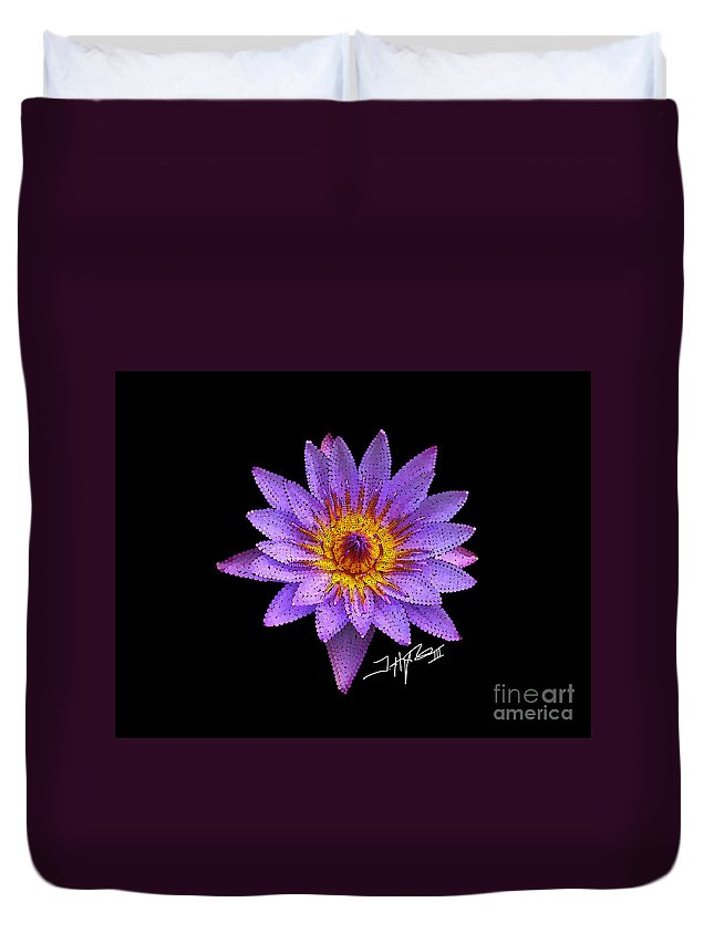 Flowers Duvet Cover featuring the digital art Dots Of Flowers by Tommy Hughes