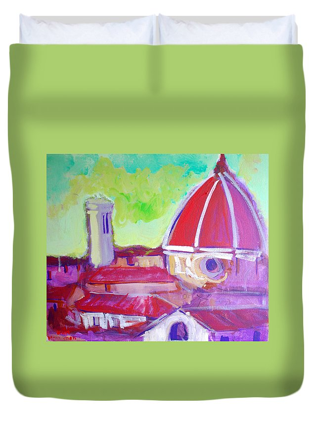 Florence Duvet Cover featuring the painting Florence by Kurt Hausmann