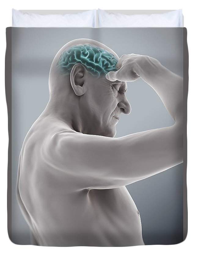 Head Pain Duvet Cover featuring the photograph Head Ache by Science Picture Co
