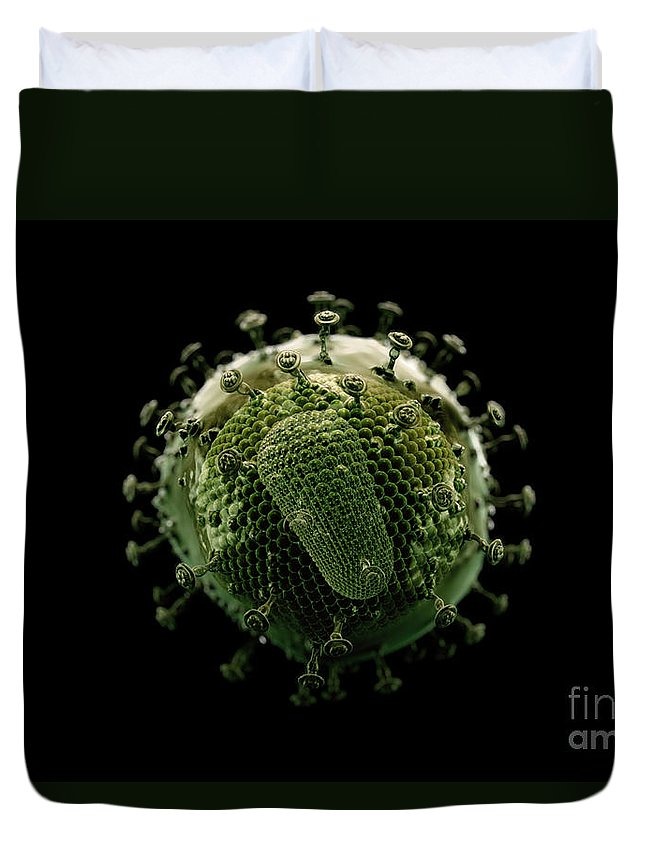 Sick Duvet Cover featuring the photograph Hiv by Science Picture Co