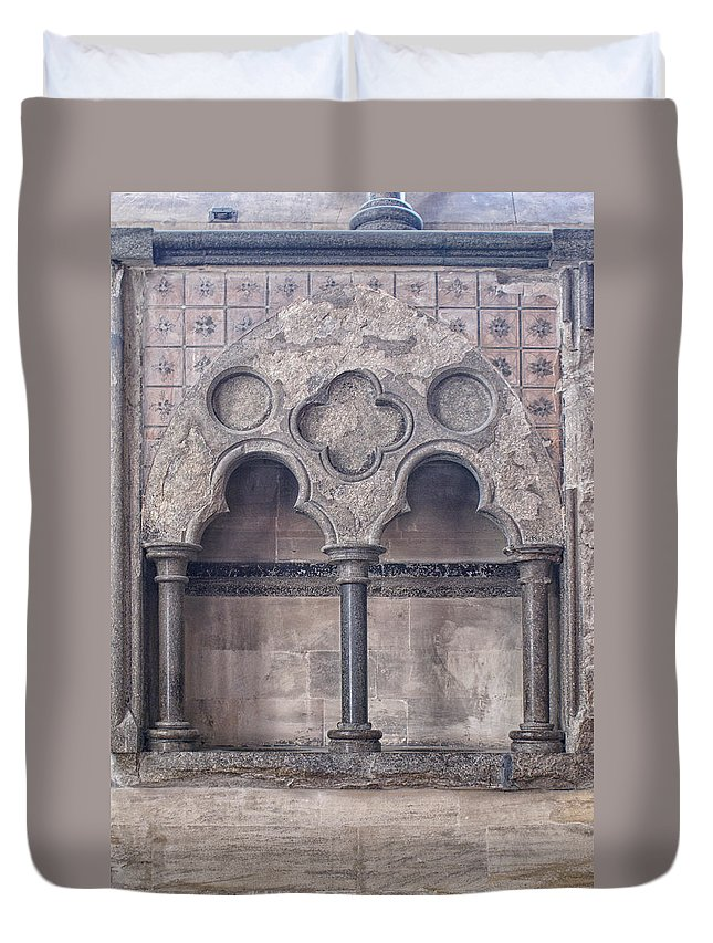 Church Duvet Cover featuring the digital art Knights Templar Temple In London by Carol Ailles