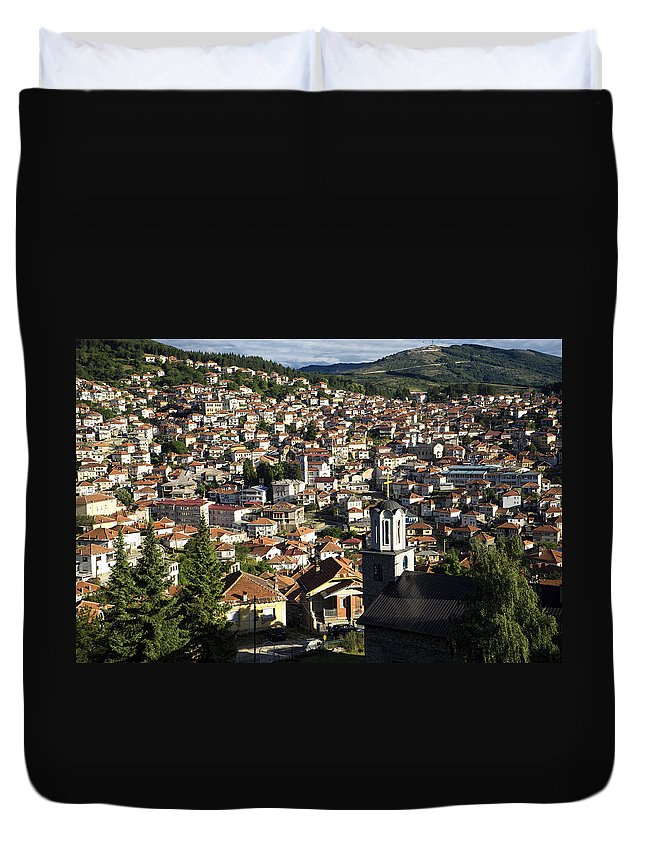Krusevo Duvet Cover featuring the photograph Krusevo Macedonia by For Ninety One Days