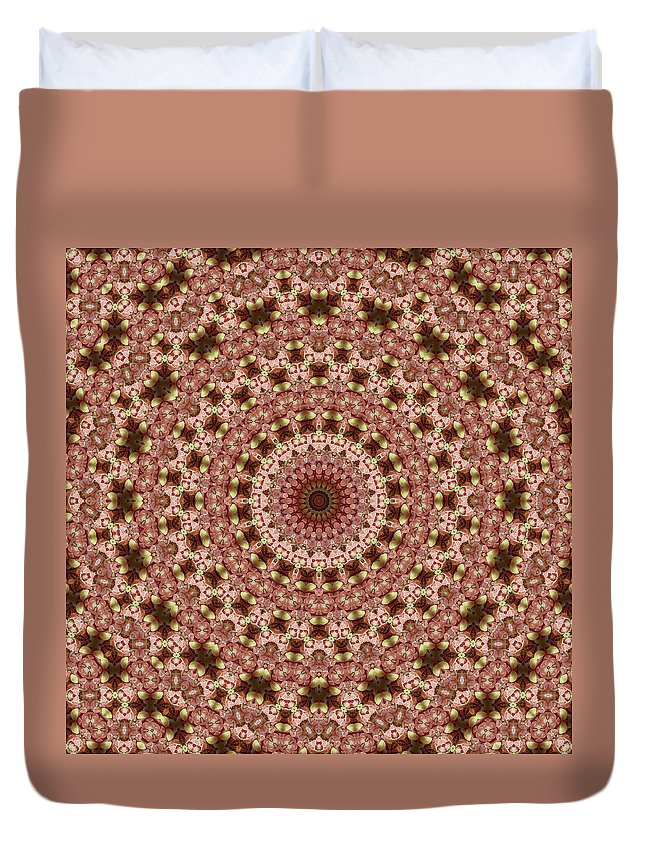Glazed Fruit Mandala Duvet Cover featuring the photograph Mandala by Ben Bassey