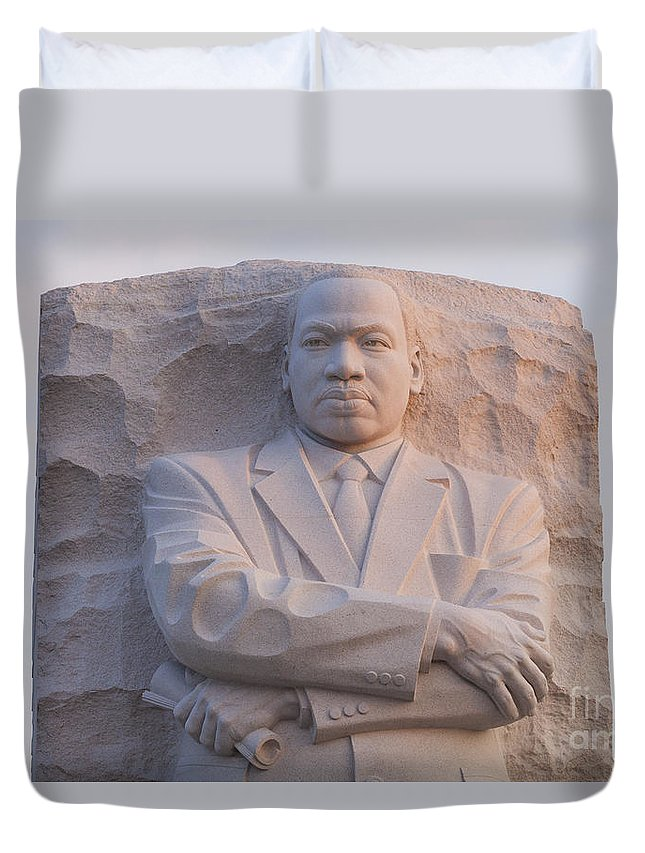 Martin Duvet Cover featuring the photograph Martin Luther King Jr Memorial by B Christopher