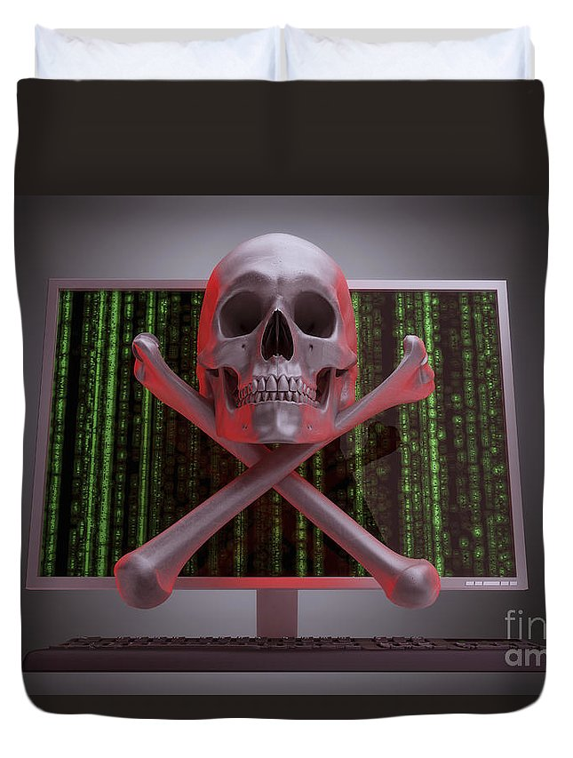 Information Theft Duvet Cover featuring the photograph Online Security by Science Picture Co