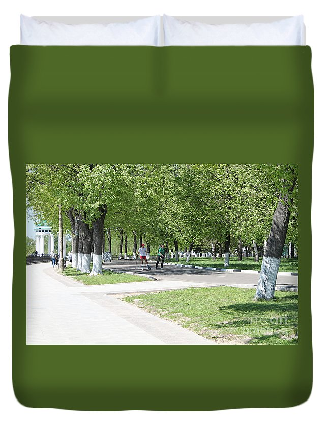 Quay Duvet Cover featuring the photograph Quay by Evgeny Pisarev