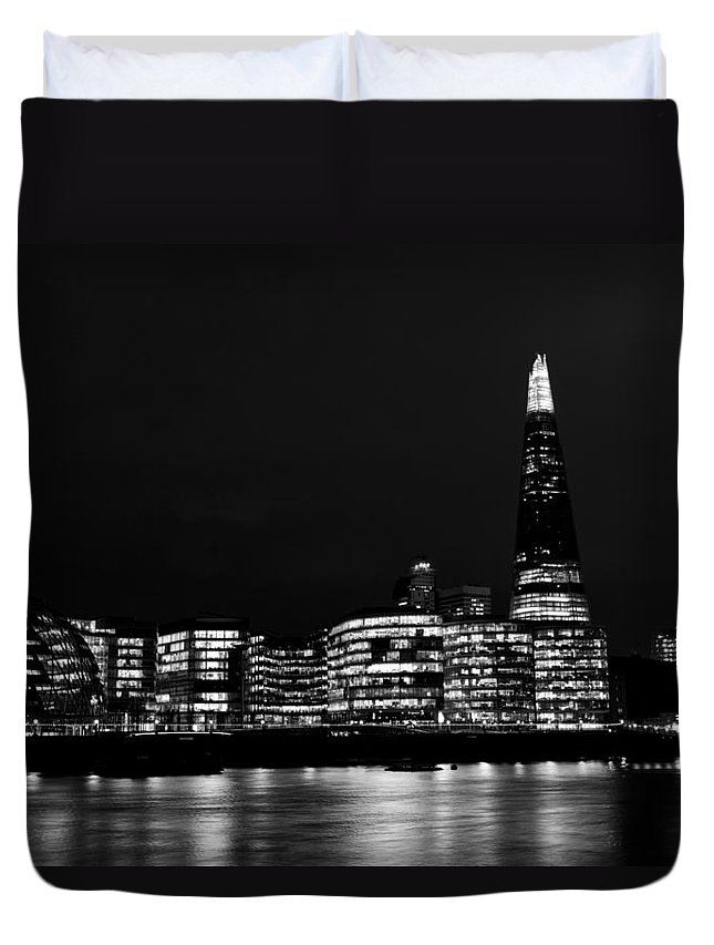 Shard Duvet Cover featuring the photograph The Shard And Southbank London by David Pyatt