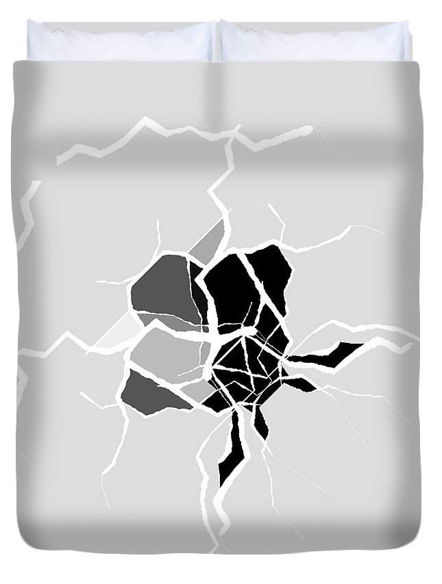 Abstract Duvet Cover featuring the digital art 5040.16.25 by Gareth Lewis