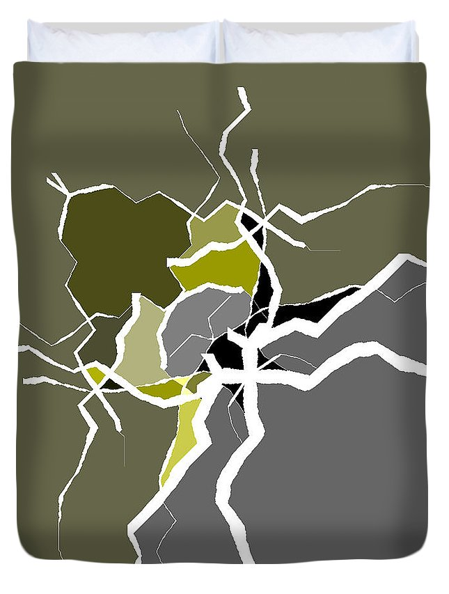 Abstract Duvet Cover featuring the digital art 5040.16.6 by Gareth Lewis
