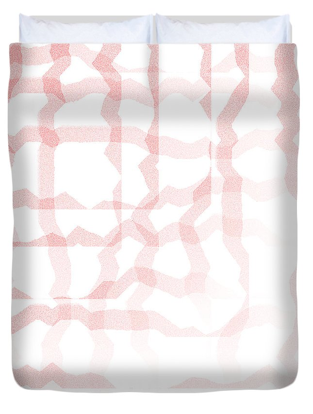 Abstract Duvet Cover featuring the digital art 5040.24.1 by Gareth Lewis