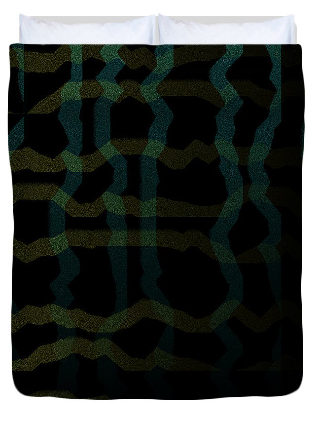 Abstract Duvet Cover featuring the digital art 5040.24.16 by Gareth Lewis