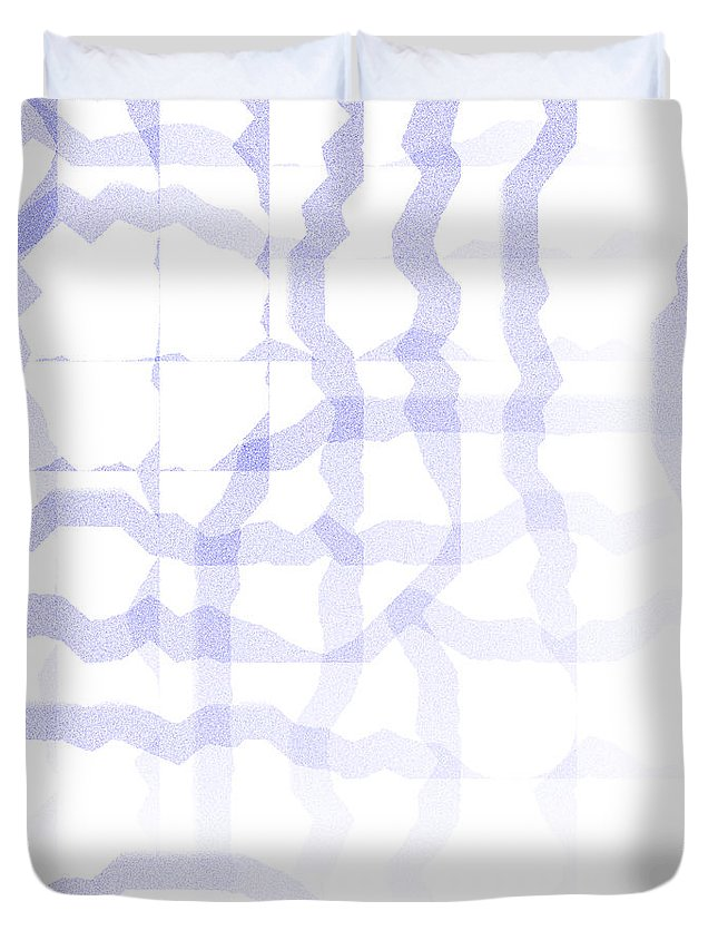 Abstract Duvet Cover featuring the digital art 5040.24.9 by Gareth Lewis