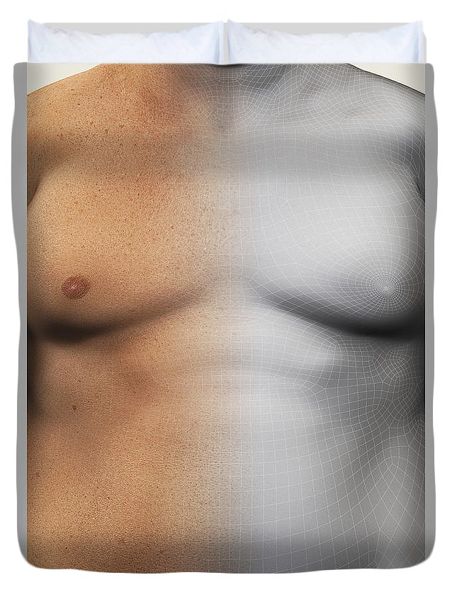 Biomedical Illustration Duvet Cover featuring the photograph Obesity by Science Picture Co