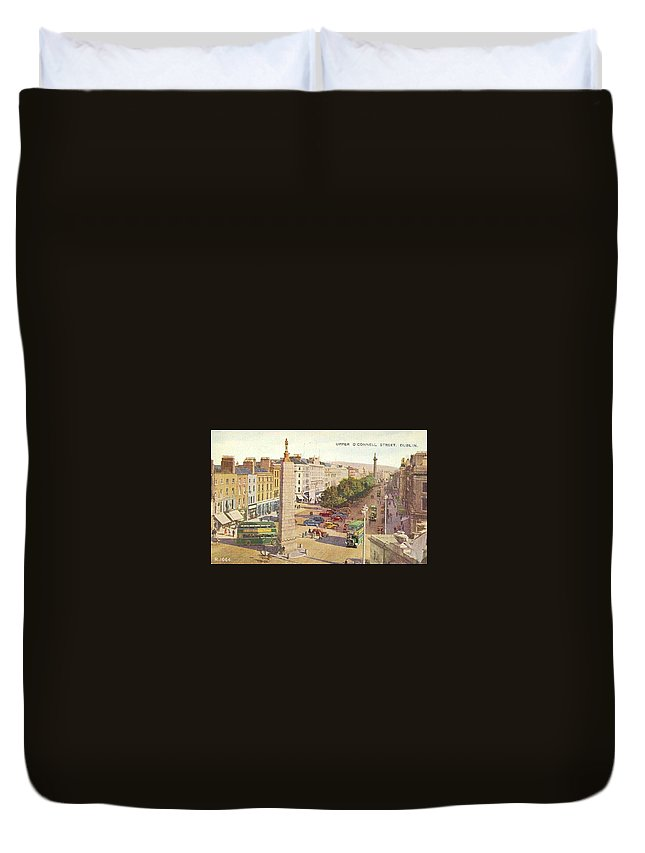 1000-1500 Duvet Cover featuring the painting The Ancient Town Of Agrigentum by MotionAge Designs