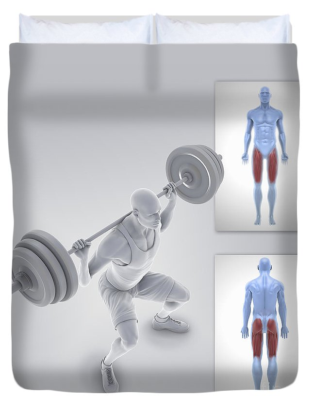 3d Visualisation Duvet Cover featuring the photograph Exercise Workout by Science Picture Co
