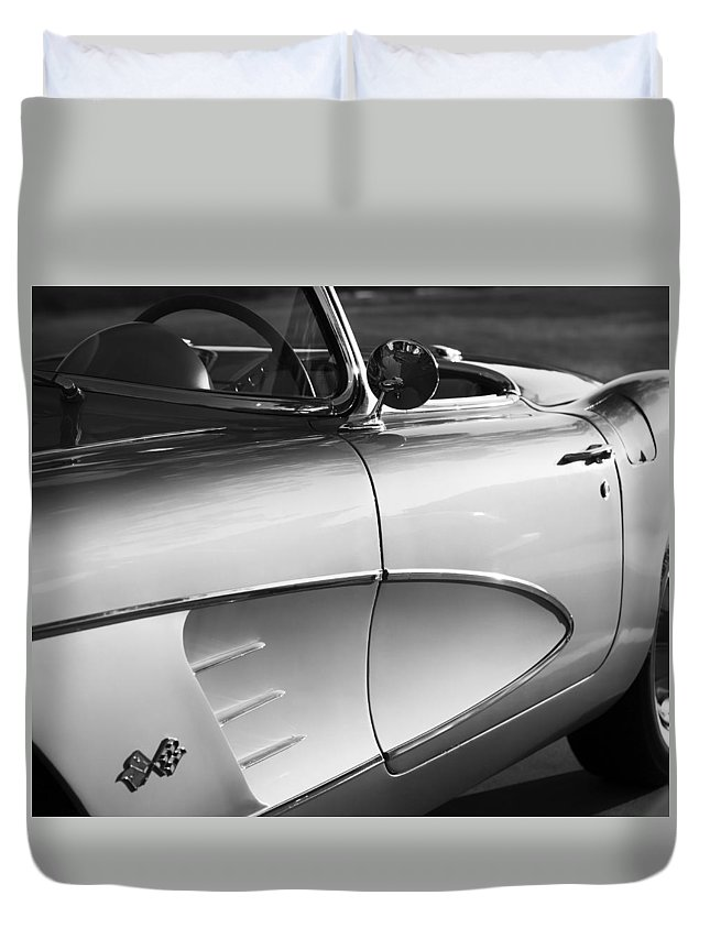 1956 Duvet Cover featuring the photograph 56 Vet by Debby Richards