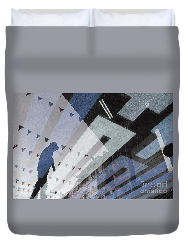 Blue Duvet Cover featuring the photograph April Rain by Setsiri Silapasuwanchai