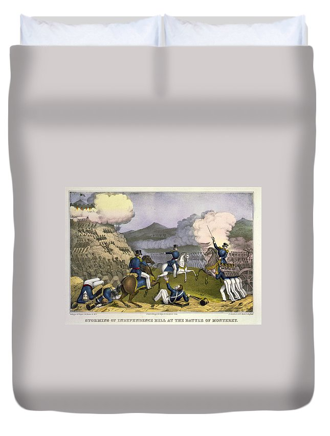 1846 Duvet Cover featuring the painting Battle Of Monterrey, 1846 by Granger