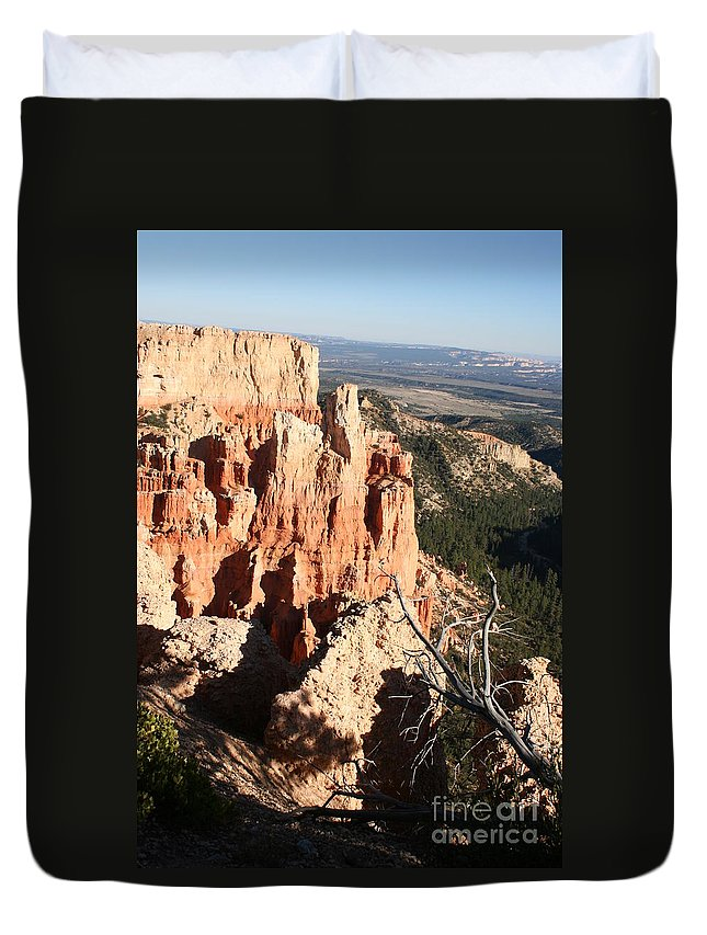 Canyon Duvet Cover featuring the photograph Bryce Canyon by Christiane Schulze Art And Photography
