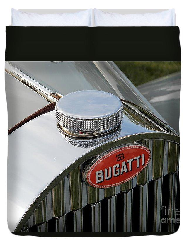 Bugatti Duvet Cover featuring the photograph Bugatti Type 57 by Neil Zimmerman
