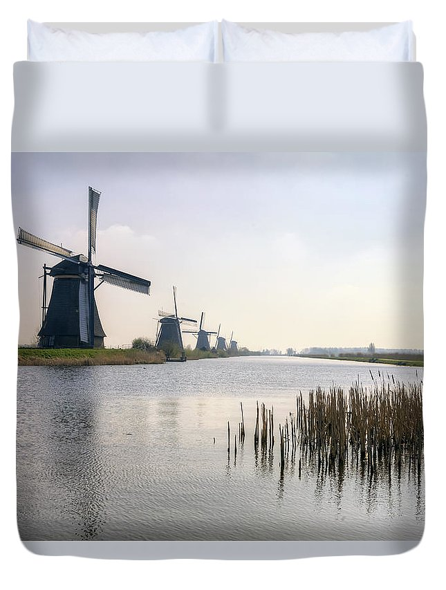 Kinderdijk Duvet Cover featuring the photograph Kinderdijk by Joana Kruse