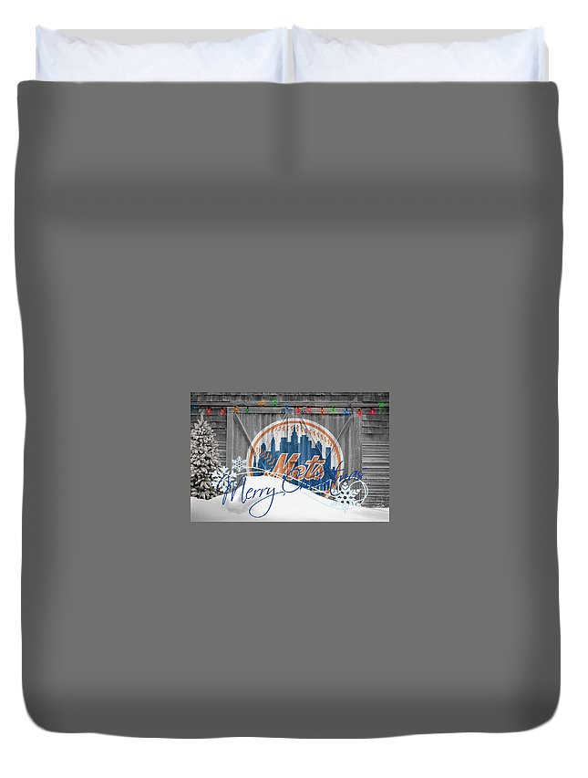 Mets Duvet Cover featuring the photograph New York Mets by Joe Hamilton