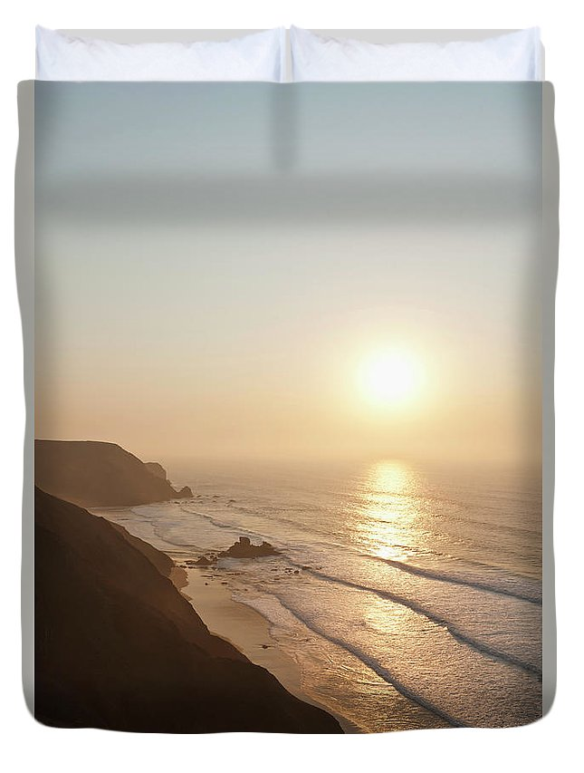Algarve Duvet Cover featuring the photograph Portugal, Algarve, Sagres, View Of by Westend61