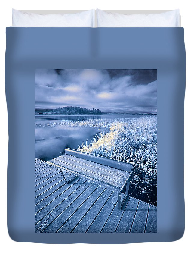 Finland Duvet Cover featuring the photograph Variations Of A Dock by Jouko Lehto