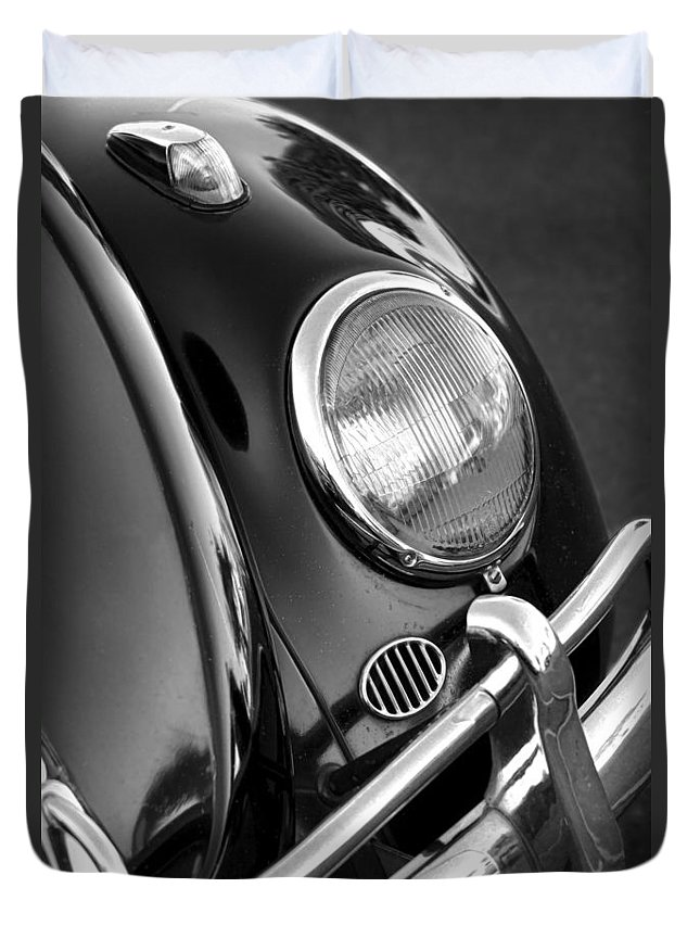 Vw Duvet Cover featuring the photograph '65 Vw Beetle by Gordon Dean II