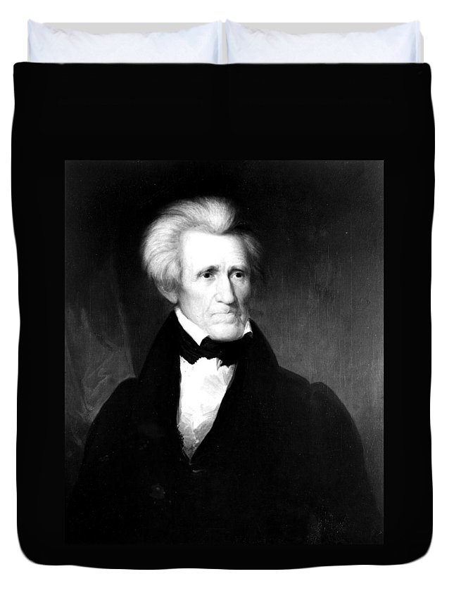 1835 Duvet Cover featuring the painting Andrew Jackson (1767-1845) by Granger