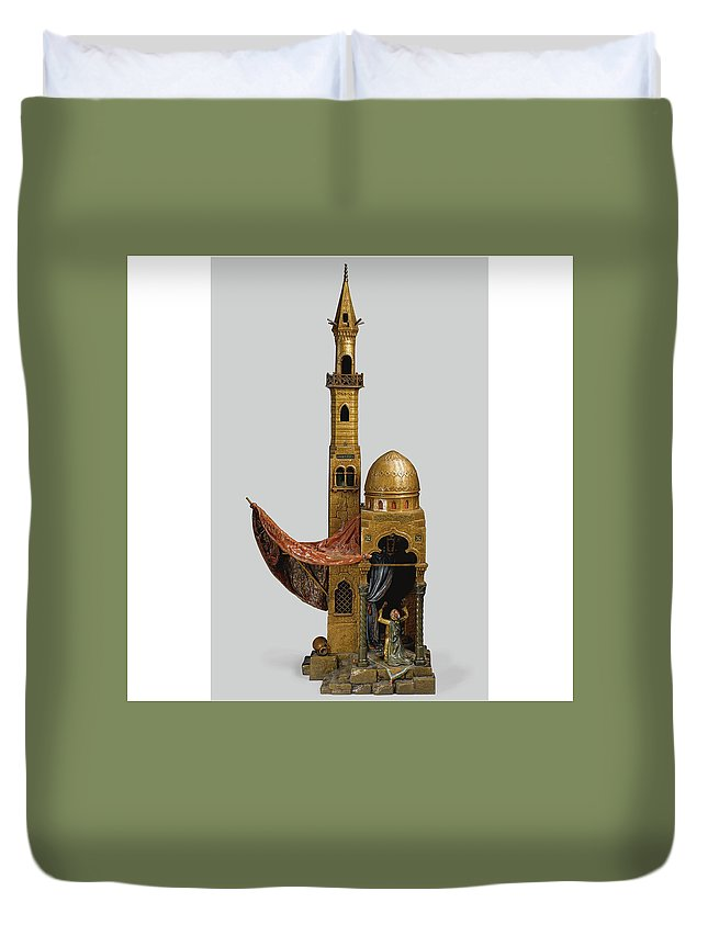 Massys Duvet Cover featuring the painting Massys by MotionAge Designs