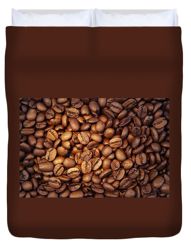 Bean Duvet Cover featuring the photograph Coffee Beans by Les Cunliffe