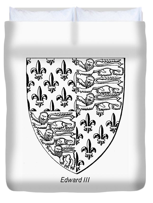 14th Century Duvet Cover featuring the painting Edward IIi (1312-1377) by Granger