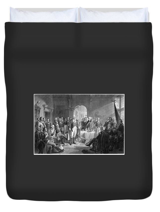 1783 Duvet Cover featuring the painting George Washington (1732-1799) by Granger
