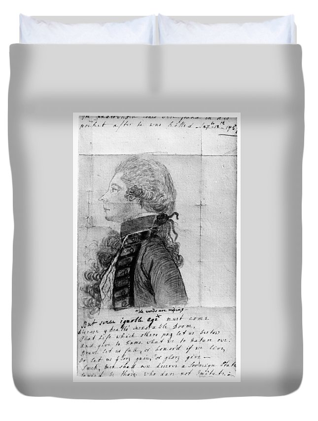 18th Century Duvet Cover featuring the painting James Wolfe (1727-1759) by Granger