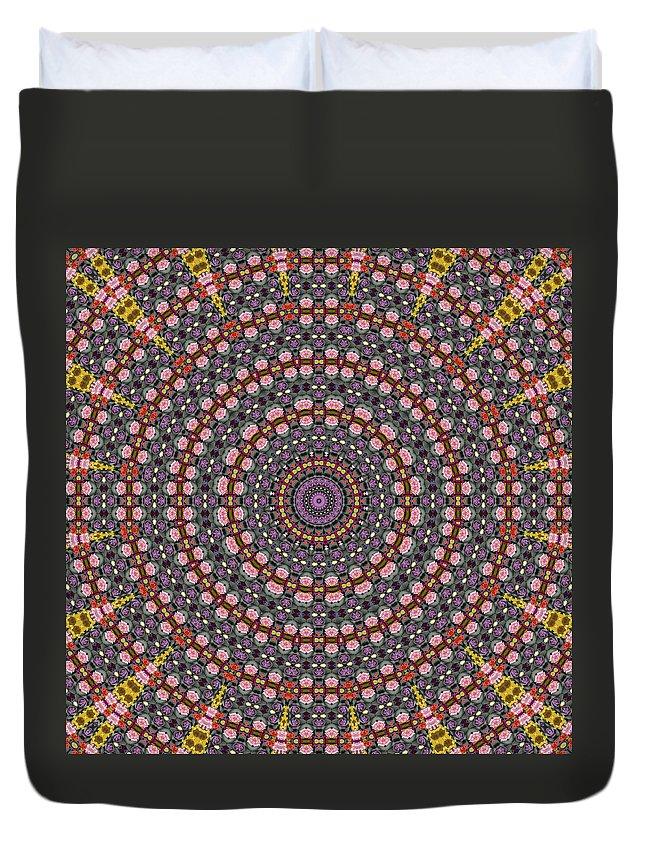 Mandala Of A Flower Bouquet Duvet Cover featuring the photograph Mandala by Ben Bassey