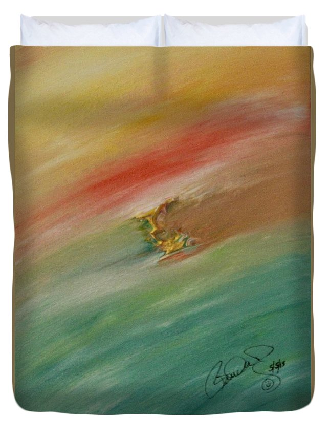 Original Abstract Masterpiece Duvet Cover featuring the painting Original Masterpiece by Brenda Basham Dothage