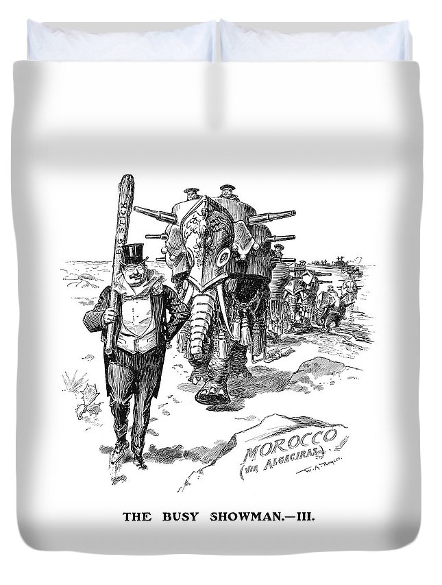 1906 Duvet Cover featuring the painting Roosevelt Cartoon, 1906 by Granger